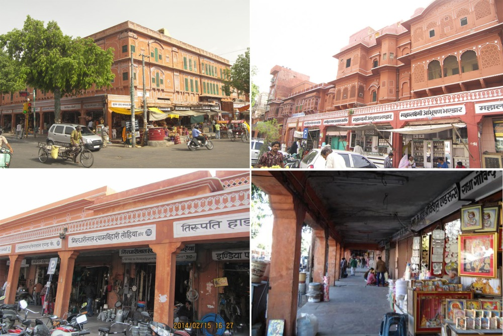 Top to Bottom - Chandpole Bazaar, Kishanpole Bazaar, Tripolia Bazaar